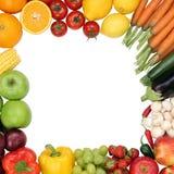 Kader van vruchten en groenten met copyspace Stock Foto
