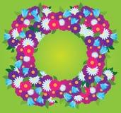 Kader van wildflowers vector illustratie