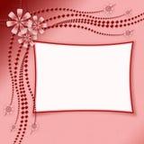 Kader voor foto's met een bloemornament Stock Afbeeldingen