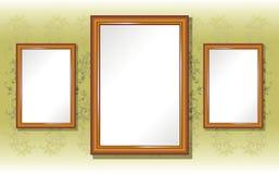 Kader voor foto's op de muur royalty-vrije illustratie