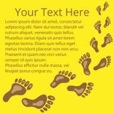 Kader voor tekst van voetafdrukken 03 Royalty-vrije Stock Afbeeldingen