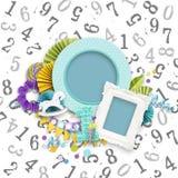Kader voor Verjaardagsfoto's in plakboekstijl stock afbeeldingen