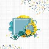 Kader voor Verjaardagsfoto's in plakboekstijl stock foto