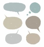 Kader, wolk, tekst, gekleurde ellips, ovaal, onregelmatig, Royalty-vrije Stock Foto