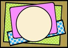 Kadergrens met texturen en kleuren royalty-vrije illustratie