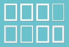 Kadermalplaatje voor beelden en foto's wordt geplaatst die Geïsoleerdee vector vector illustratie