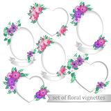 Kaders met bloemen Royalty-vrije Stock Afbeeldingen