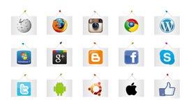Kaders met de softwaresymbolen Royalty-vrije Stock Afbeeldingen