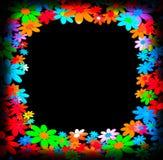 Kaders met kleurrijke bloemen worden verfraaid die Stock Fotografie