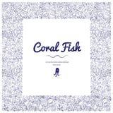 Kaders met koraal vis-06 stock illustratie