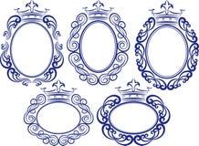 Kaders met kroon Royalty-vrije Stock Foto