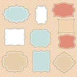 Kaders uitstekende kleur Stock Afbeeldingen