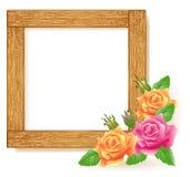 Kaders van de ontwerp de houten foto vector illustratie