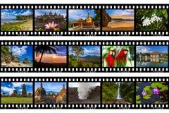 Kaders van film - de reisbeelden van Bali Indonesië mijn foto's Stock Foto