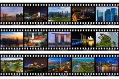Kaders van film - de reisbeelden van Singapore mijn foto's royalty-vrije stock foto