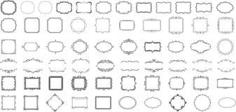 Kaders voor emblemen en kentekens Stock Foto