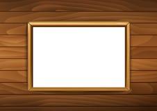 Kaders voor schilderijen of foto's op baksteen houten backgrou vector illustratie