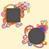Kaders voor uw tekst in het ornament Stock Afbeeldingen
