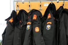 Kadeta płaszcz na stojaku Obrazy Royalty Free