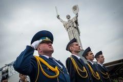Kadetten markiert 70. Jahrestag des Endes des Zweiten Weltkrieges Lizenzfreie Stockfotos