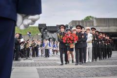 Kadetten markiert 70. Jahrestag des Endes des Zweiten Weltkrieges Stockfotos