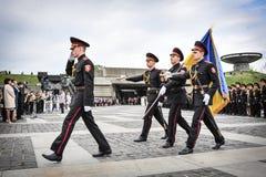 Kadetten markiert 70. Jahrestag des Endes des Zweiten Weltkrieges Stockbild