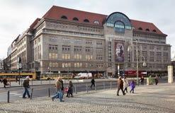 Kadewe shopping mall in Berlin. Kadewe shopping mall exterior in Berlin.  Kadewe is the second largest department store in Europe Royalty Free Stock Photo