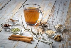 Free Kadha Or Homemade Medicinal Drink To Boost Immunity Royalty Free Stock Images - 186985339