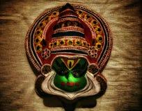 Kadhakali面对印地安传统 免版税库存照片