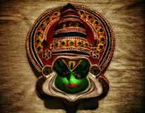 Kadhakali face- Indian tradition Royalty Free Stock Photo