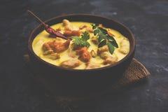 Kadhi Pakoda oder pakora, indische Küche, selektiver Fokus Stockbild
