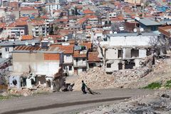 Kadifekale Izmir, Turkiet Arkivfoton