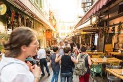 Kadikoy普遍的街道看法,伊斯坦布尔,土耳其 库存照片