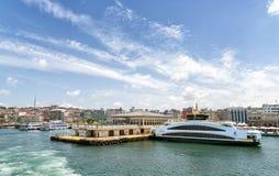 Kadikoy船坞,伊斯坦布尔,土耳其 库存图片