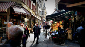 Kadikoy bazaar. People in bazaar Royalty Free Stock Photography