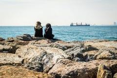 Kadikoy linia brzegowa w Istanbuł, Turcja Zdjęcie Stock
