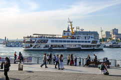 Kadikoy pier and the pier moving Stock Photography