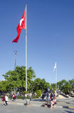 Kadikoy Pier Square 'headmaster Ataturk Monument' and the Turkis Stock Images