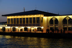 Kadikoy Pier After Sunset Stock Photography