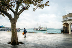 Kadikoy port and ferry boat in Istanbul, Turkey Royalty Free Stock Photo