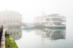 Kadikoy port in a smog. Istanbul, Turkey Stock Photos