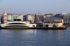Kadikoy skeppsdocka, Istanbul Arkivbilder