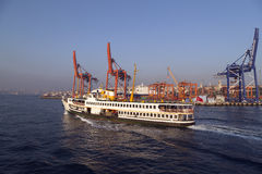 Kadikoy skeppsdocka, Istanbul Arkivfoton