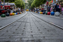 Kadikoy-Straße Stockfotografie