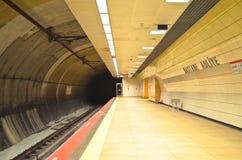 Istanbul Hastane Adliye metro station stock photography