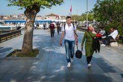 Kadikoykust in Istanboel, Turkije Royalty-vrije Stock Afbeeldingen