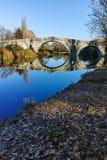 Kadin najwięcej - 15 wiek kamienia łuku most nad Struma rzeką przy Nevestino zdjęcia stock