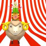 Kadomatsu Na uśmiechu Sheep głowie Na lampasie Fotografia Stock