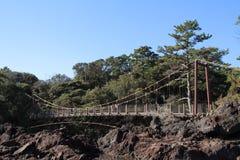 Kadowaki吊桥 免版税库存照片