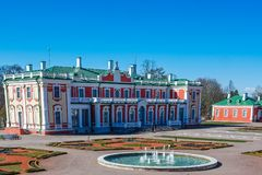 Kadriorg Art Museum in Tallinn stock images